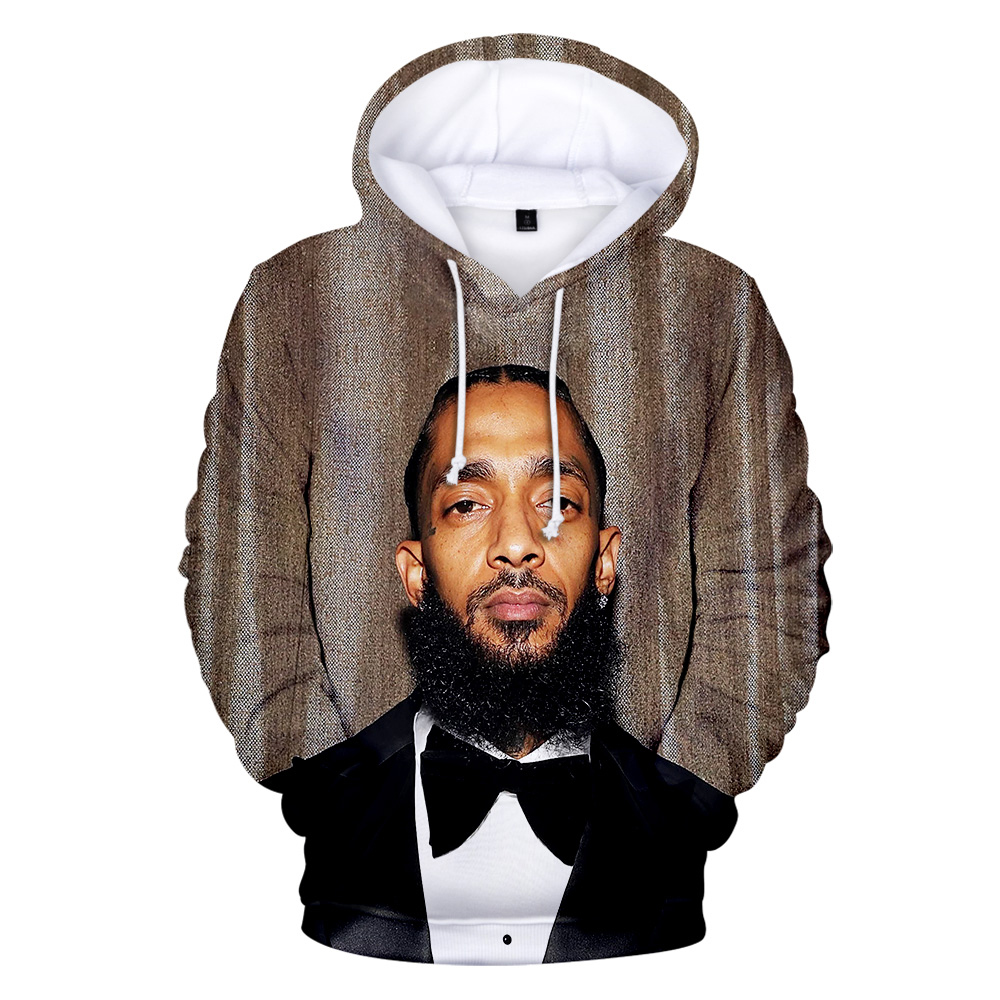 2019 New Men Hoodie 3D Nipsey Hussleprint Singer Print Rap Harajuku Sweatshirt Hot Keep Warm Hoodies Leisure hip hop Streetwear in Hoodies amp Sweatshirts from Men 39 s Clothing