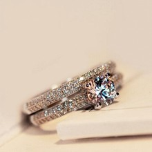 SONA CZ Diamant Engagement Rings Set 925 Sterling Silver Rings For Women Band Wedding Rings Promise Rings Bridal Jewelry 4-10