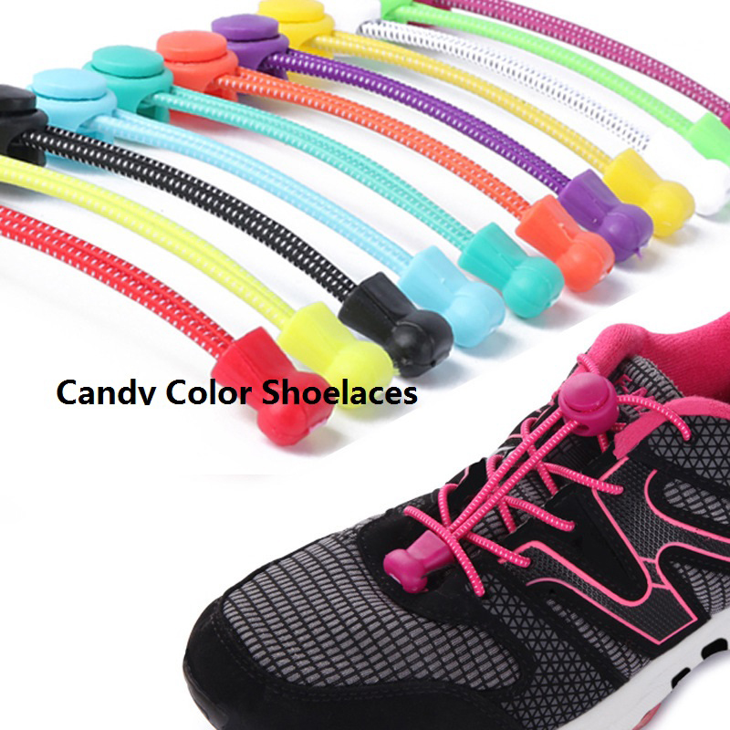 EABXZ Candy Color No Tie Shoe Laces Elastic Lock Lace System Lock Sports Shoelaces Runners Trainer EABXZ Candy Color No Tie Shoe Laces Elastic Lock Lace System Lock Sports Shoelaces Runners Trainer