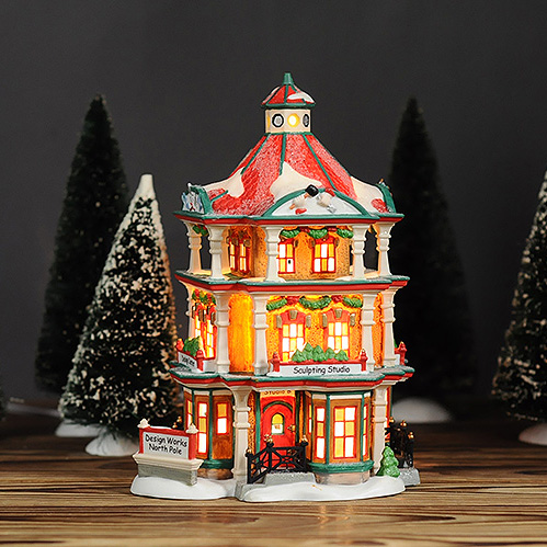 north pole series design works north pole nitht lighted ceramic house decoration gift in statues sculptures from home garden on aliexpresscom alibaba