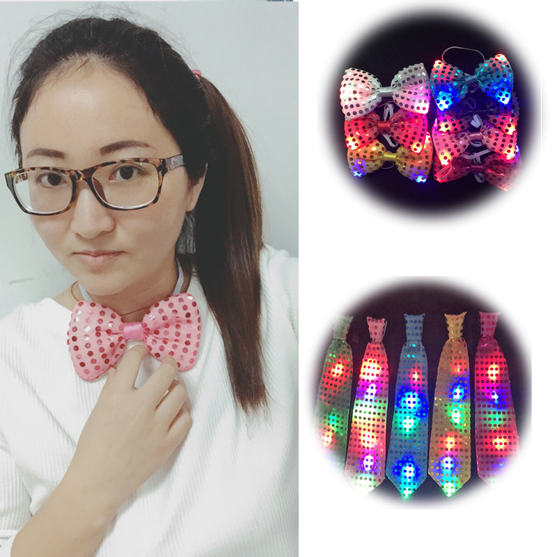 Rave Led Party Blinkande Cosplay LED Slips / Slips Glödande DJ BAR Dance Carnival Party Masker Coola rekvisita Jul / Party Decoration