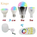 NEW Milight Led Bulb 4W 5W 6W 9W GU10 E27 E14 RGBW RGBWW  Lamps Wireless Wifi Controller Box 4-Zone 2.4G RF Remote Controller
