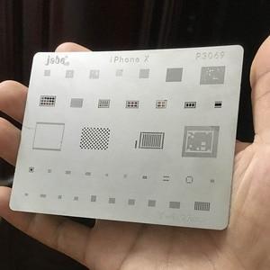 Image 5 - 12 pcs IC תיקון BGA עיבוד חוזר Reball Reballing סטנסילים סט עבור iPhone X 8 בתוספת 8 7 6 6 S 5S 4S תבנית תיקון ישיר חימום כלים
