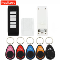 Wireless Electronic Key Finder Reminder With 5 Key Chain Receivers For Lost Keys Locator Whistle Key