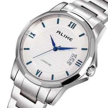 2019 New Listing Luxury Fashion Men Quartz Watch Date Stainless Steel Men Business Watch Relogio Masculino Erkek Kol Saati