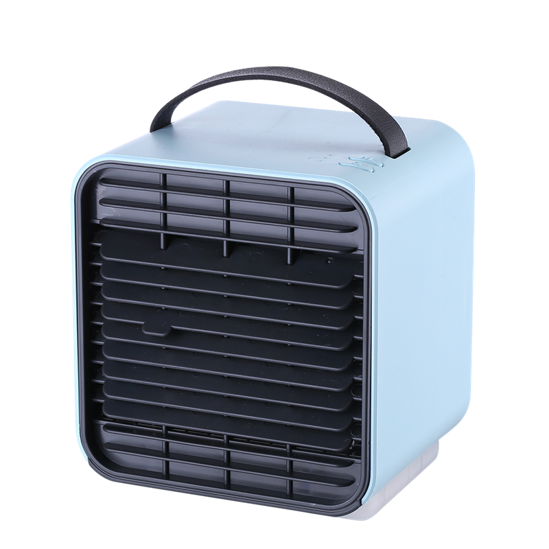 USB Mini Portable Air Cooling Fan 2000mAh Rechargeable Air Conditioner Humidifier Anion Purifier Desktop Fan for Home with Light