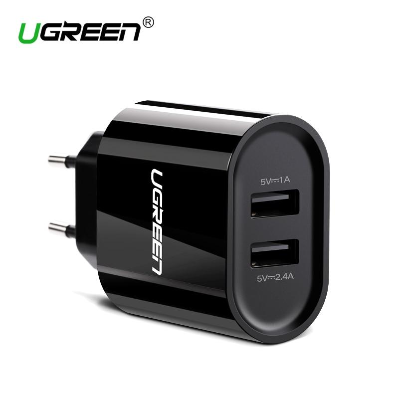 Ugreen 17 W Rápido USB Carregador Dual USB Adaptador de Carregador de Parede Universal Carregador Do Telefone Móvel para o iphone 8 Samsung S8 Tablet carregador