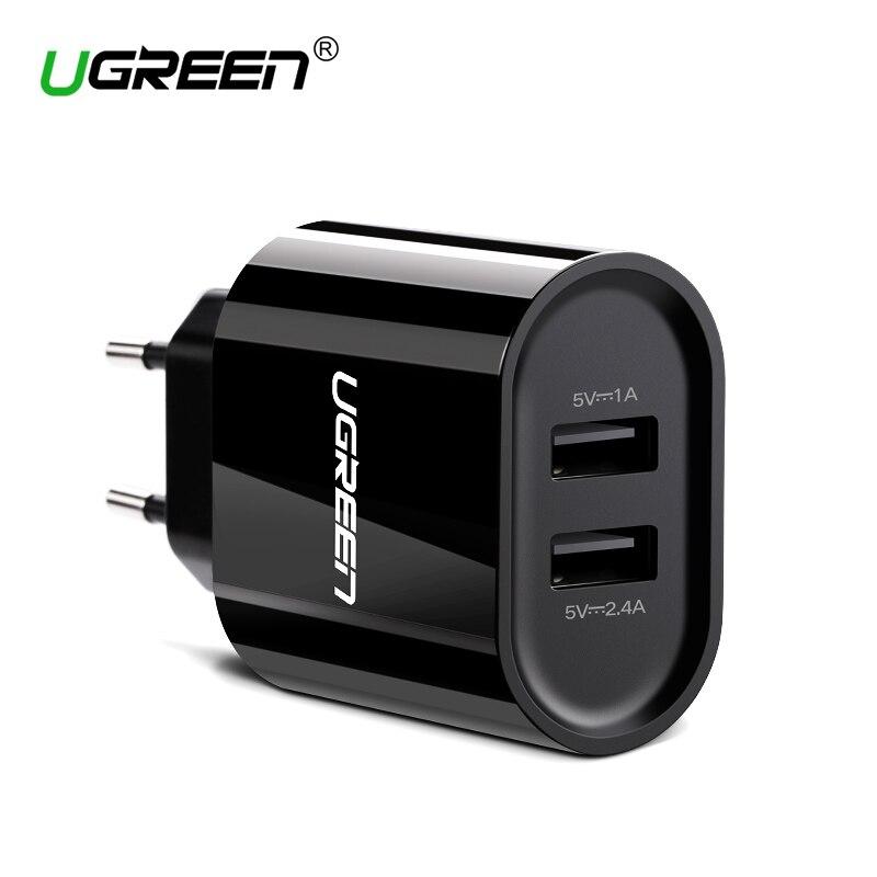 Ugreen 17 W rápido cargador USB Dual USB cargador de pared adaptador universal cargador de teléfono móvil para iPhone 8 Samsung S8 tablets cargador