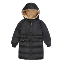 Children's clothing jacket 2018 new children's down coat thickening plus cashmere baby boys and girls baby winter warm coat