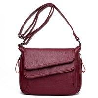 MiCOM Stylish Genuine Leather Handbags For Women Roomy Messenger Bags Ladies Shoulder Crossbody Bags Female Flap