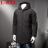 new Plus size 8XL 7XL 6XL Men's Winter Warm Jacket Hooded Slim Casual Coat Cotton padded Jacket Parka Overcoat Hoodie Thick Coat