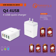 4 USB Universal Quick Charge QC 3.0 2.1A for iphone 7 8 EU US UK Plug Mobile Phone Fast Charger Charging for Samsug s8 s9 Huawei цены