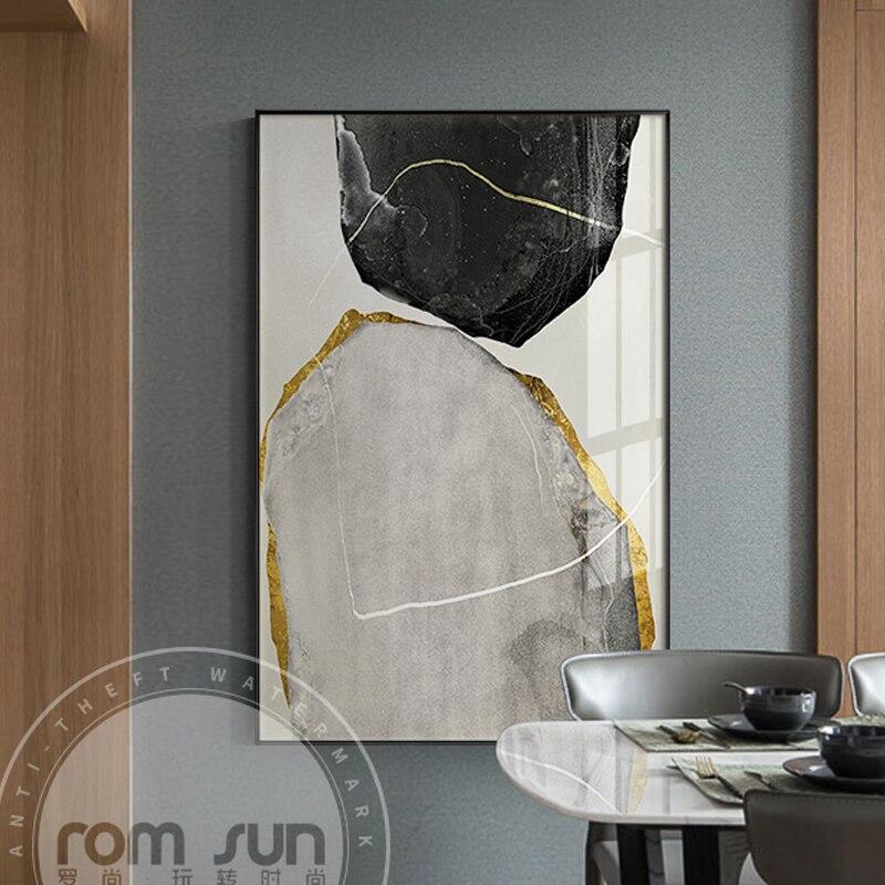 Abstrakte Gelb Und Schwarz Blöcke Leinwand Malerei Mode Poster Drucken Seltsame Sache Wand Kunst Für Wohnzimmer Cuadros Home Decor Jade Weiß