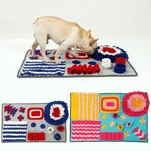 Dog Snuffle Mat Machine Washable Slow Feeding Dogs Cats Food Mats Relieve Stress Nosework Pet Activity Training Blanket