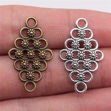 Wysiwyg 5 pçs 29x17mm motif conexões encantos conector de flor encantos para pulseira fazendo motif encantos