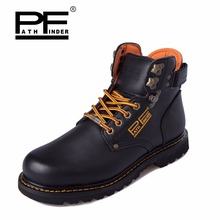 Pathfind free shipping Mens safety ankle Leather 2019 Tooling military Boots Men Outdoor Casual Shoes Retro men timber Boots цена 2017