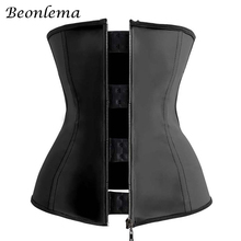 Beonlema Steel Bones High Waist Modeling Straps Belt Belly Slimming Waist Trainer Underbust Body Shaper 3XL Fajas Modeladoras