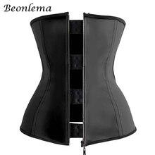 Beonlema פלדת עצמות גבוהה מותניים דוגמנות רצועות חגורת בטן הרזיה מותניים מאמן Underbust גוף Shaper 3XL Fajas Modeladoras