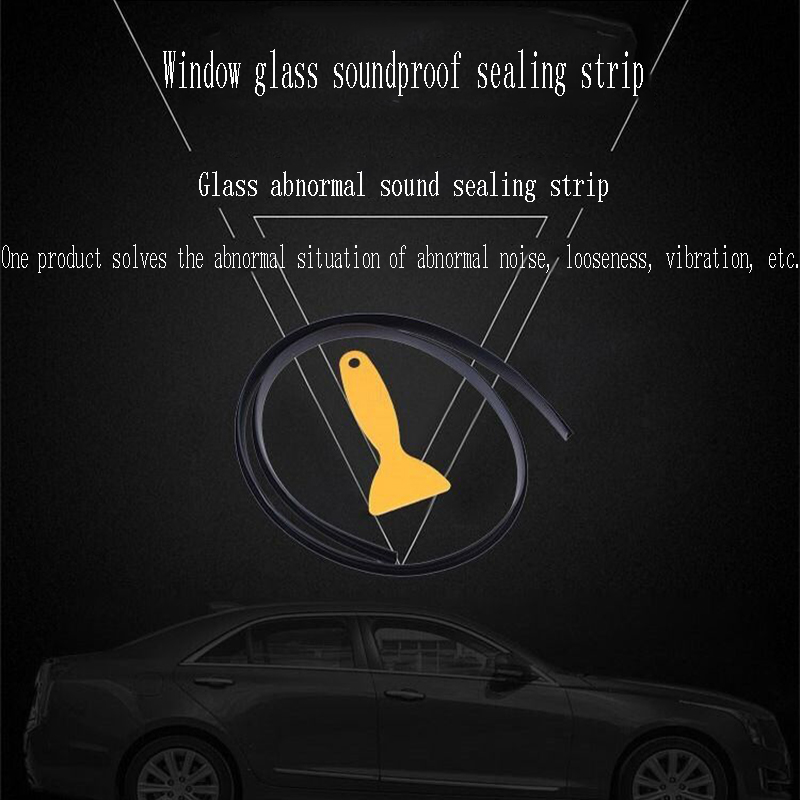 100cm Car Accessories Window Seam Soundproof Sealing Strip For Ford Focus 2 3 1 Fiesta Mondeo Ranger Kuga Seat Leon Ibiza Lexus in Car Stickers from Automobiles Motorcycles