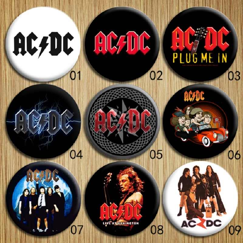 Rock Band courant alternatif/courant Direct Souvenir Badge AC/DC fer blanc broches Pin Up Street Punk vêtements fête faveurs