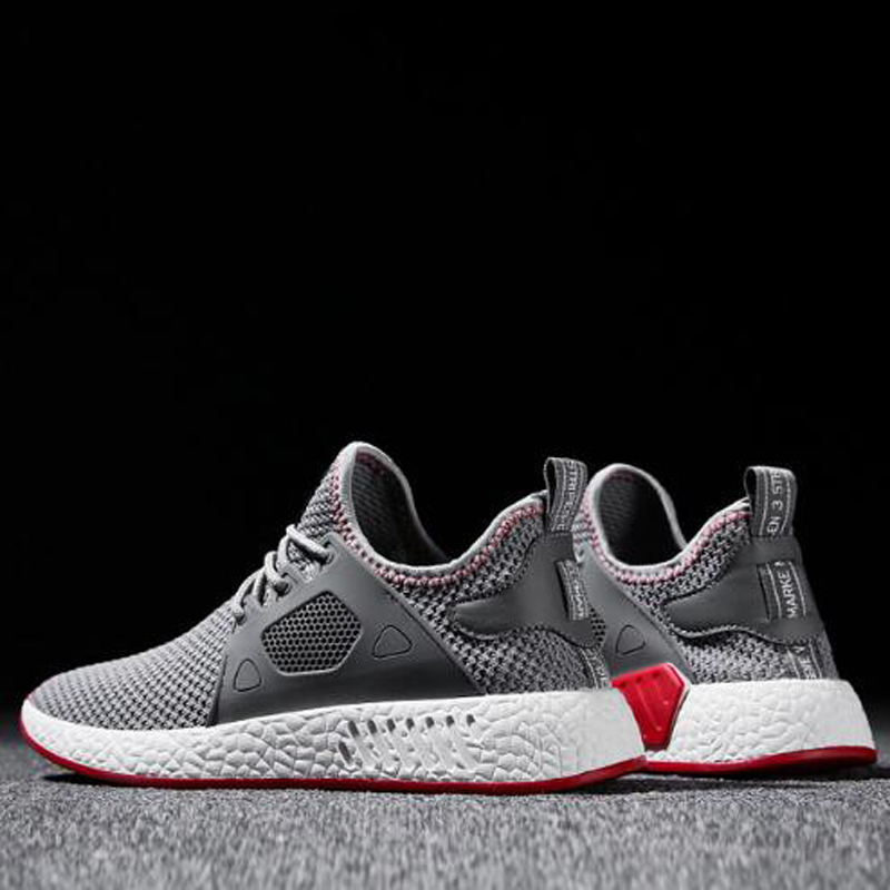 2018 Fashion Men Shoes Casual Weaving Fly Mesh Breathable