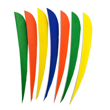 50PCS 5inch Turkey Arrow Feather Vanes Handmade Fletching Archery Bow Feather Carbon Fiberglass Shooting Hunting Parabolic Shap