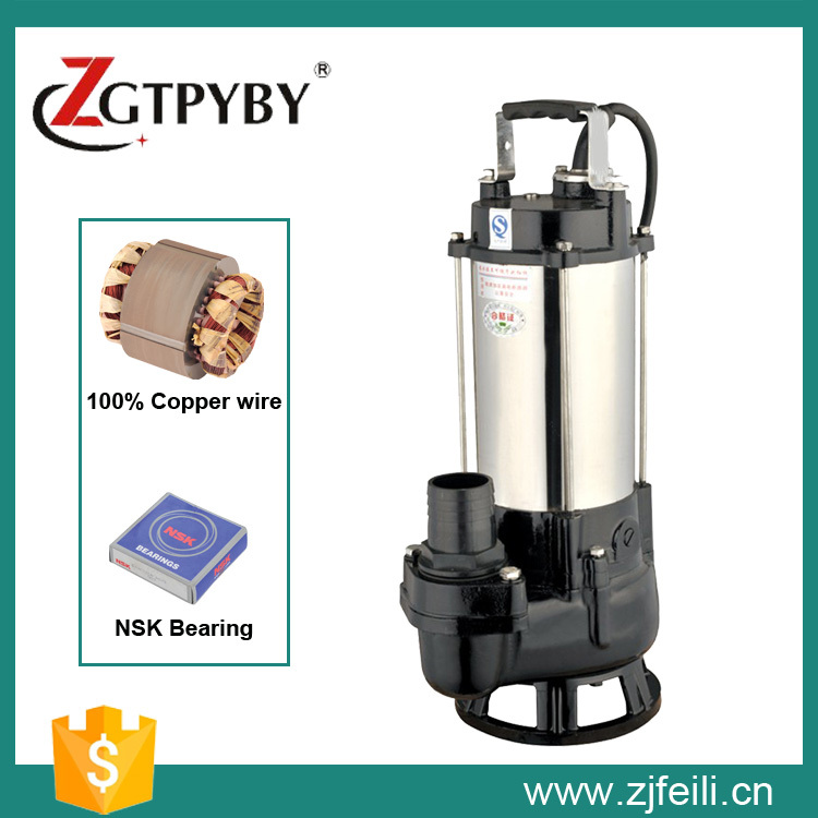 380v 1hp EP series stainless steel  non-clog sewage pump for Industrial