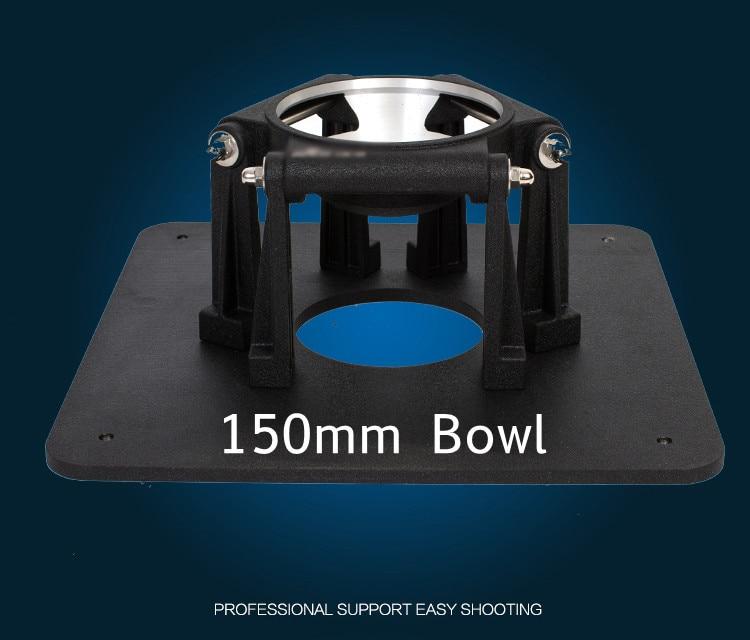 Caméra vidéo professionnelle à faible Angle de prise de vue casserole 150mm bol court trépied support charge 188kg pour OConnor 2560 2575D tête de traînée fluide-in Jambes de trépied from Electronique    2