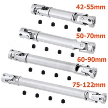 2st RC Metal Steel Universal Drive Shaft CVD 42-55mm 50-70mm 60-90mm 75-122mm Fælles 3 * 3 4 * 3 4 * 4mm For 1/24 Fjernbetjening Bil