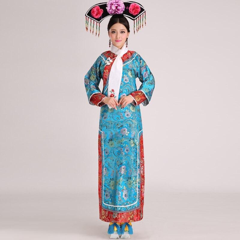 2018 nouvelles femmes brodées les vêtements de princesse de la dynastie Qing et la robe concubine impériale costume antique chinois