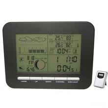 Mesa Digital Reloj despertador doble barómetro estación meteorológica con termómetro interior higrómetro inalámbrico para exteriores temperatura humedad