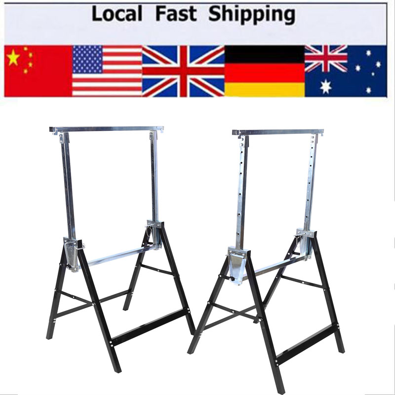 Marvelous New 4Pc Telescopic Trestle Saw Horse Foldable Work Bench Machost Co Dining Chair Design Ideas Machostcouk