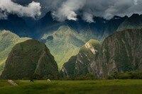 Historische Sanctuary van Machu Picchu Peru Stad Landschap Landschap Poster Stof Zijde Posters En Prints voor Home Decor 049