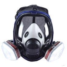 Hoge Kwaliteit Industriële 6800 Volledige Gezicht Gasmasker Masker Met Filtering Cartridge Voor Schilderen Spuiten Werk Veiligheid