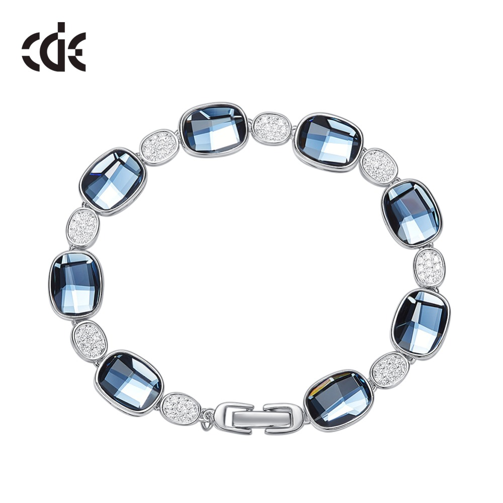 CDE Embellished with crystals from Swarovski Bracelets Jewelry Women 925 Sterling Silver Jewelry Fashion Elegant Fine