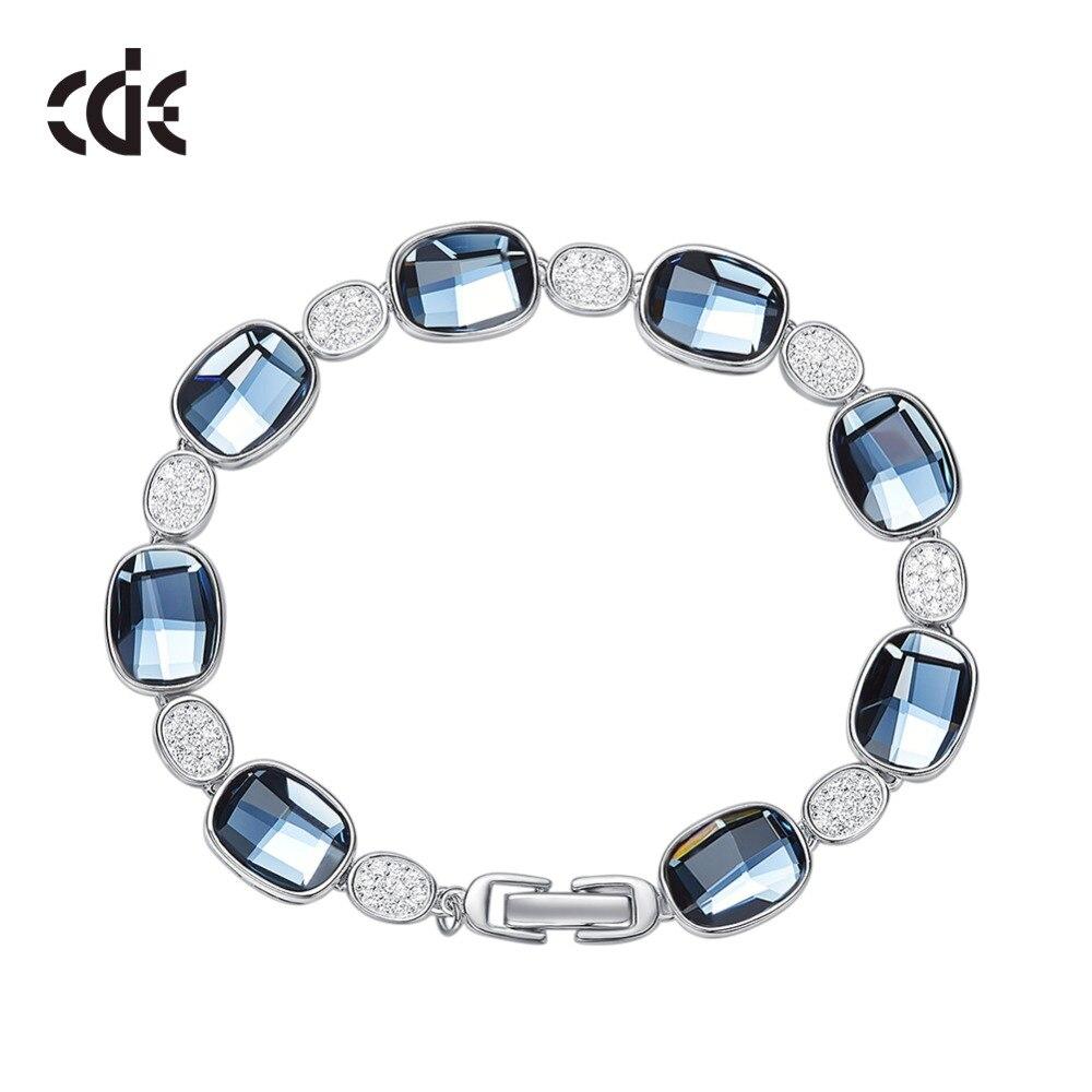 2611cd033e87 CDE adornado con cristales de Swarovski pulseras joyería mujer 925 joyería  de plata de ley moda ...