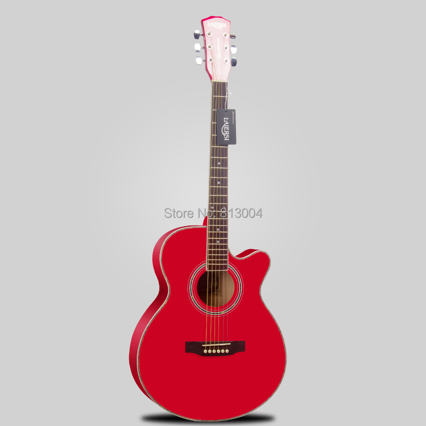 40 inches large red folk acoustic guitar brass light string panel material basswood the length. Black Bedroom Furniture Sets. Home Design Ideas