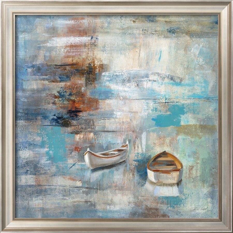 Абстрактные картины лодки морские пейзажи современное искусство маслом на холсте спокойное море по Silvia Vassileva живопись Высокое качество ручная роспись
