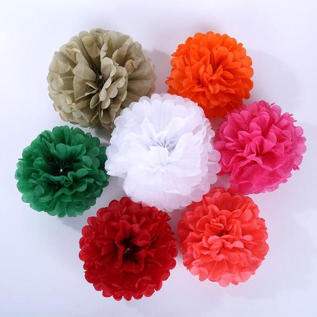 16 Inch 40cm Large Tissue Hanging Paper Pom Pom Baby Shower Paper Flowers Balls Wedding Decoration Lx2127 In Party Diy Decorations From Home Garden