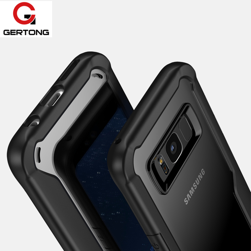 Luxury Phone Cases For Samsung Galaxy S8 Coque Mobile Phone Bag Armor Silicone + Acrylic Back Cover For Samsung S 8 S8 Case 5.8