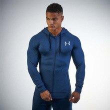 Muscleguys Brand Fitness sweatshirts Men Bodybuilding Hoodies Gyms font b Clothing b font Men Zipper Casual