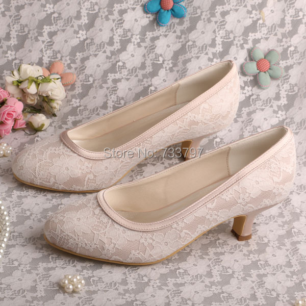 Aliexpress.com : Buy Wedopus Sweet Women Wedding Pumps Nude Round
