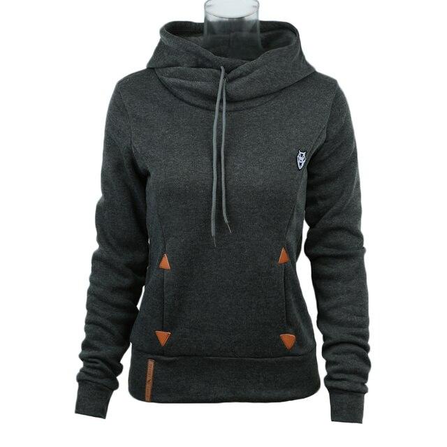 Hoodies Women 2019 Brand Female Long Sleeve Solid Color Hooded Sweatshirt Hoodie Tracksuit Sweat Coat Casual Sportswear XXXL