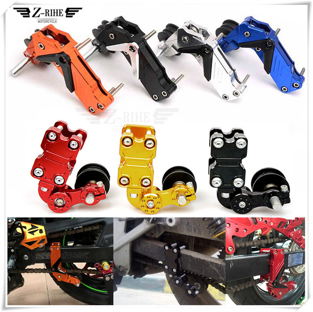 Motorcycle Motobike Cnc Chain Tensioner Chain Adjuster On Roller