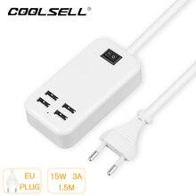 5V3A 4 Порта USB Зарядное Устройство ЕС/США Штекер USB Зарядное устройство быстрой зарядки для samsung ВКЛ/ВЫКЛ переключатель Зарядное Устройство Для Мобильного Телефона(China (Mainland))