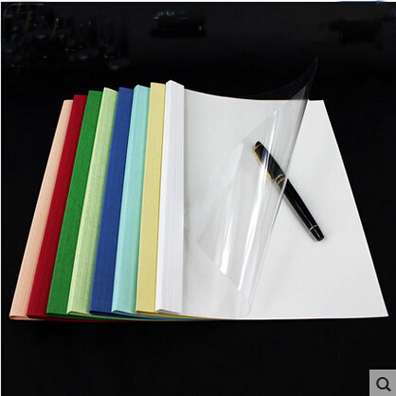 Book Cover Binding Material : Thermal binding cover with g white paper and