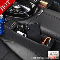 BANCANO Car Seat Organizer Box Charger USB Gap Storage Mobile Phone Coin Auto Storage Bag Stowing