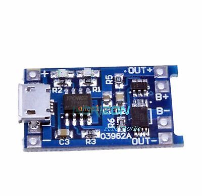 10pcs 5V 1A Micro USB 18650 Lithium Battery Charging Board Charger Protection 18650 lithium battery 5v micro usb 1a charging board with protection charger module for arduino diy kit