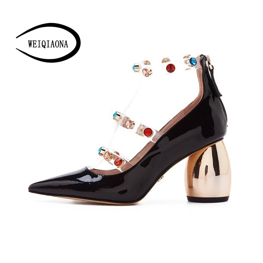 WEIQIAONA 2019 New Women Shoes New Pointed Toe Casual Shoes High Heels Ladies Shoes PumpsWEIQIAONA 2019 New Women Shoes New Pointed Toe Casual Shoes High Heels Ladies Shoes Pumps