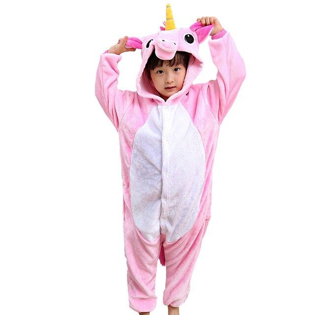 Niños pijama Animal Cosplay Navidad Onesie Pikachu Stitch gato Totoro unicornio  pijamas para niños niñas ropa 7d9d686effaf